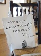 Tired of London bag