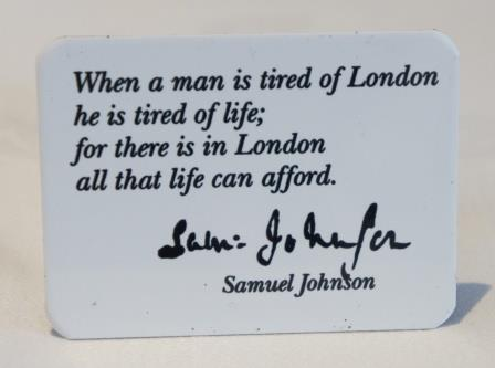 Tired of London fridge magnet